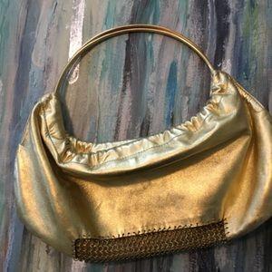 Karine Arabian gold clutch
